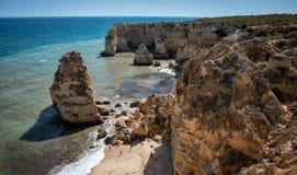 Praia da Marinha fotografia royalty free