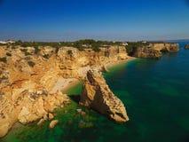 Praia DA Marinha, Algarve Fotos de archivo libres de regalías