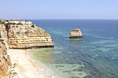 Praia da Marinha in the Algarve Stock Images