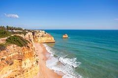 Praia da Marinha in the Algarve Portugal Stock Images