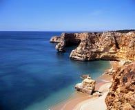 Praia da Marinha beach and coastline. Royalty Free Stock Photography