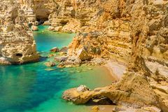 Praia da Marinha - Beautiful Beach Marinha in Algarve, Portugal Royalty Free Stock Photos