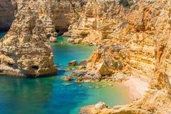 Praia da Marinha - Beautiful Beach Marinha in Algarve, Portugal Stock Photos