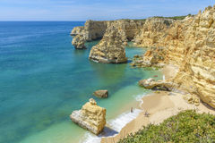 Praia da Marinha near Lagoa, in Algarve, Portugal Royalty Free Stock Image
