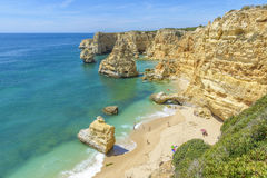 Praia da Marinha near Lagoa, in Algarve, Portugal Stock Photo