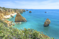 Praia da Marinha near Lagoa, in Algarve, Portugal Stock Photos