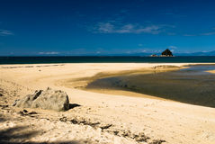 Praia da mosca de Sandy no parque nacional tasman de Abel Fotos de Stock