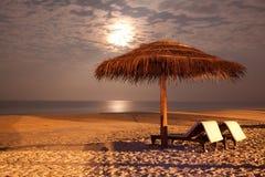 Praia da noite Imagem de Stock Royalty Free