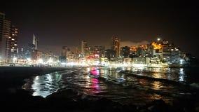 Praia da noite imagem de stock