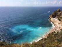 Praia da opinião do mar da Espanha de Benitachell Imagem de Stock