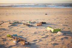 Praia da poluição Imagens de Stock