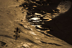 A praia da prata do mar Imagens de Stock Royalty Free
