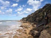 Praia da ressaca Imagem de Stock Royalty Free