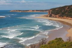 Praia da ressaca em Austrália Imagem de Stock