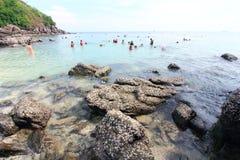 Praia da rocha fotografia de stock royalty free