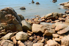 Praia da rocha Foto de Stock Royalty Free