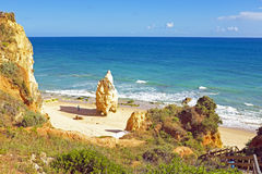 Praia da Rocha in the Algarve Portugal Stock Image
