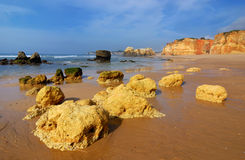 Praia da Rocha, Atlantic ocean, Portugal Royalty Free Stock Photo