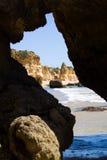 Praia da rocha beach,portugal-algarve Stock Photos