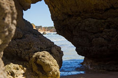 Praia da rocha beach,portugal-algarve Royalty Free Stock Photo