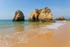 Praia da Rocha. Beach of Praia da Rocha, in the Algarve, Portugal royalty free stock photo
