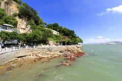 Praia da rocha da ilha de gulangyu Fotografia de Stock Royalty Free
