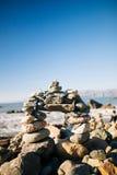 Praia da rocha da milha foto de stock