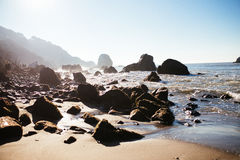 Praia da rocha da milha imagem de stock