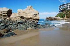 Praia da rocha da tabela, Laguna Beach sul, Califórnia. Fotos de Stock Royalty Free