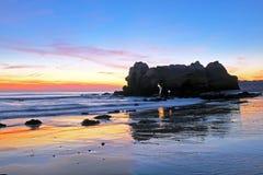 Praia DA Rocha dans l'Algarve Portugal Images libres de droits