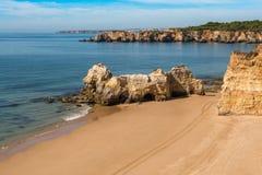 Praia DA Rocha dans Portimao, Algarve Image stock
