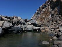 Praia da rocha de Morro Fotografia de Stock Royalty Free