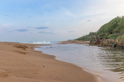 Praia da rocha de sal Imagem de Stock