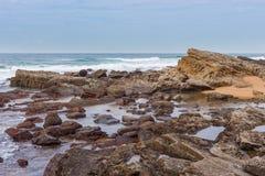 Praia da rocha de sal Foto de Stock Royalty Free