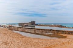 Praia da rocha de sal Imagens de Stock