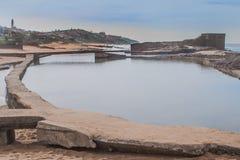 Praia da rocha de sal Foto de Stock