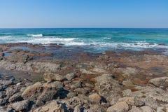 Praia da rocha de Shakas Foto de Stock