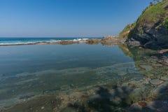 Praia da rocha de Shakas Imagens de Stock Royalty Free