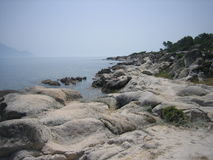 Praia da rocha de Sithonia Fotografia de Stock