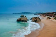 Praia da Rocha in the evening Stock Image