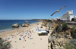Praia da Rocha in Portimao, Portugal Royalty Free Stock Images