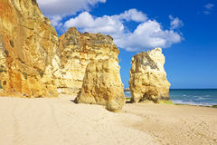 Praia da Rocha in Portugal Stock Photography