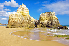 Praia da Rocha in Portugal Stock Image