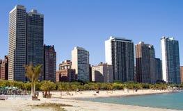 Praia da rua do carvalho, Chicago foto de stock royalty free