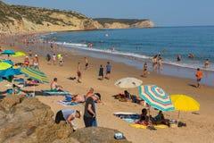 Praia DA Salema stockbilder