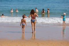 Praia DA Salema lizenzfreie stockfotos