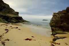 Praia da tempestade Fotografia de Stock