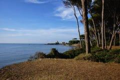 Praia da torre de Astura Foto de Stock Royalty Free