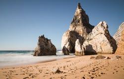 Praia da Ursa beach with rocks in Portugal