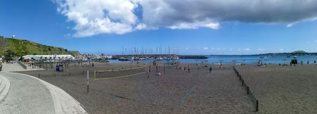 Praia da Vitoria town on Sao Miguel Island in the Azores archipelago